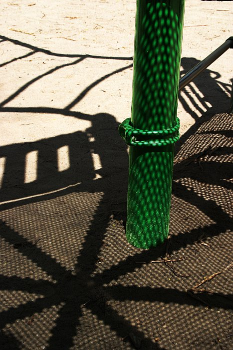 Green Playground Pole    (click for previous picture)