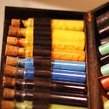A little travel case of paints from the Holman Hunt exhibit at the AGO