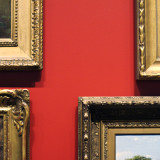 Red Grand Salon wall